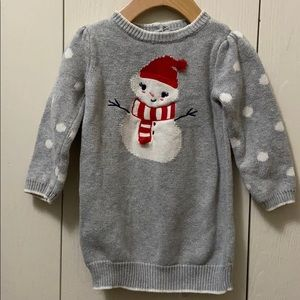 Gymboree Snowman Snuggle Grey Sweater Dress